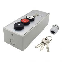 Key switch with 3 push buttons