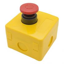 Push button box, emergency stop button