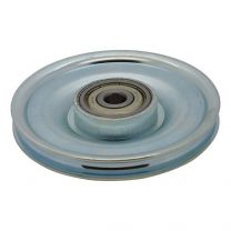 Cable pulley, galvanized steel 100x10mm - maximum 5mm cable
