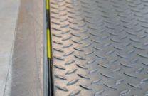 Rear seal for dock levellers, 40mm lip, length 2500mm