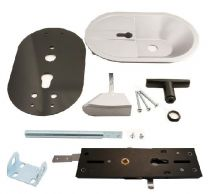 Cylinder lock, for 80mm panel thickness